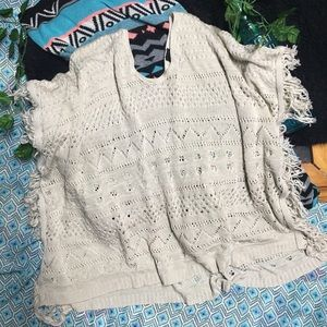 Poncho type sweater
